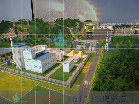 银川火力发电变电站实训火力发电展示模型